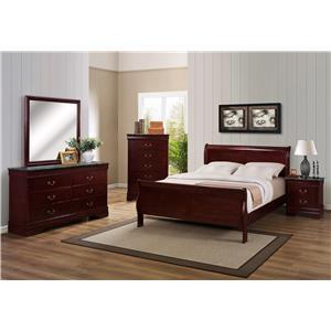 Crown Mark Louis Phillipe Queen Bedroom Group
