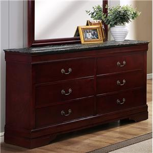 Crown Mark Louis Phillipe Six Drawer Dresser