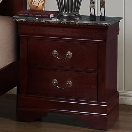 Crown Mark Louis Phillipe Nightstand With Faux Marble - Item Number: B3888-2MBL