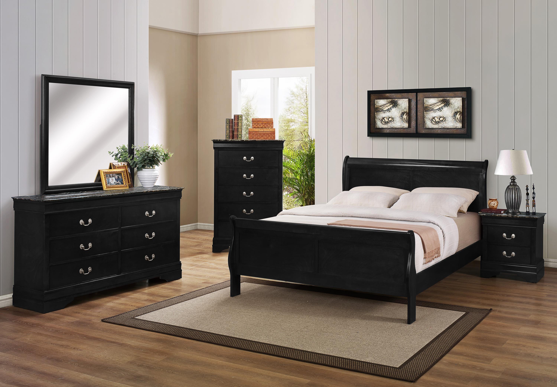 Crown Mark Louis Phillipe Twin Bedroom Group - Item Number: B3900 T Bedroom Group 2