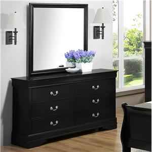 Crown Mark Louis Phillipe Dresser & Mirror - B3900-1+11