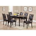 Crown Mark Lyla Table and Chair Set - Item Number: 2331T-4284+6x2331S