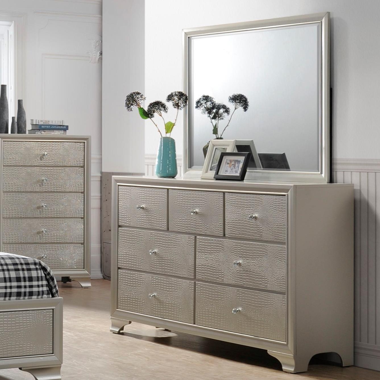 Crown Mark Lyssa Glam Dresser And Mirror Set Northeast