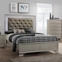 Crown Mark Lyssa Upholstered King Bed - Item Number: B4300-K-HBFB+B4300-KQ-RAIL