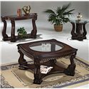 Crown Mark Madison End Table - Shown with Coordinating Coffee Table and Sofa Table