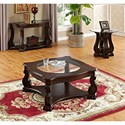 Crown Mark Madison Sofa Table - Shown with Coordinating End Table and Coffee Table