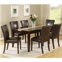 Crown Mark Madrid & Ferrara Dining Table - Shown with Coordinating Side Chairs