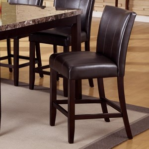 Crown Mark Madrid & Ferrara Upholstered Counter Height Chair