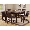 Crown Mark Madrid & Ferrara Counter Height Table - Shown with Coordinating Counter Chairs
