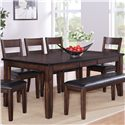 Crown Mark Maldives Dining Table - Item Number: 2360T-4278