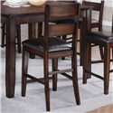 Crown Mark Maldives 8 Piece Counter Height Dining Set with Bench - Counter Chair Shown