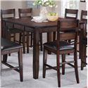 Crown Mark Maldives 8 Piece Counter Height Dining Set with Bench - Counter Height Table Shown