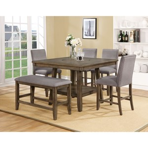 Crown Mark Manning Counter Height Table Set