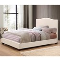 Crown Mark Mara Upholstered Queen Bed - Item Number: 5279-Q-HB+5279-Q-FBRL