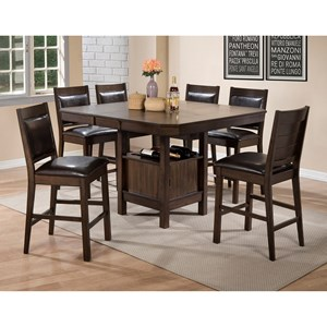 Crown Mark Marlow Counter Height Table and Chair Set