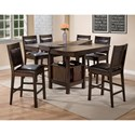 Crown Mark Marlow Counter Height Table and Chair Set with Table Storage
