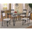 Crown Mark Matrix 5 Piece Dinette Set - Item Number: 1116SET-BASE+GL