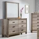 Crown Mark Matteo Dresser and Mirror Set - Item Number: B3200-1+B3200-11