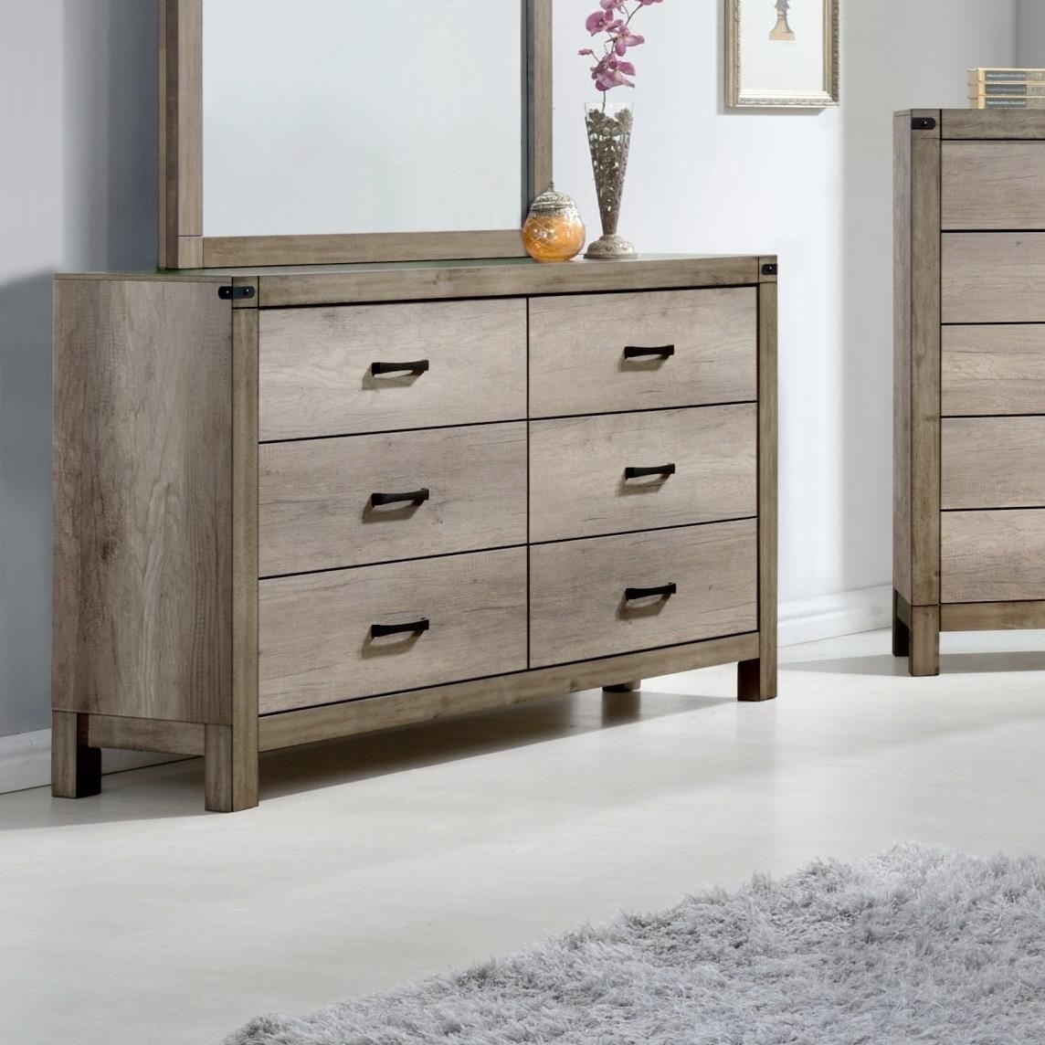 Cm Matteo Contemporary Six Drawer Dresser Michael 39 S Furniture Warehouse Dressers