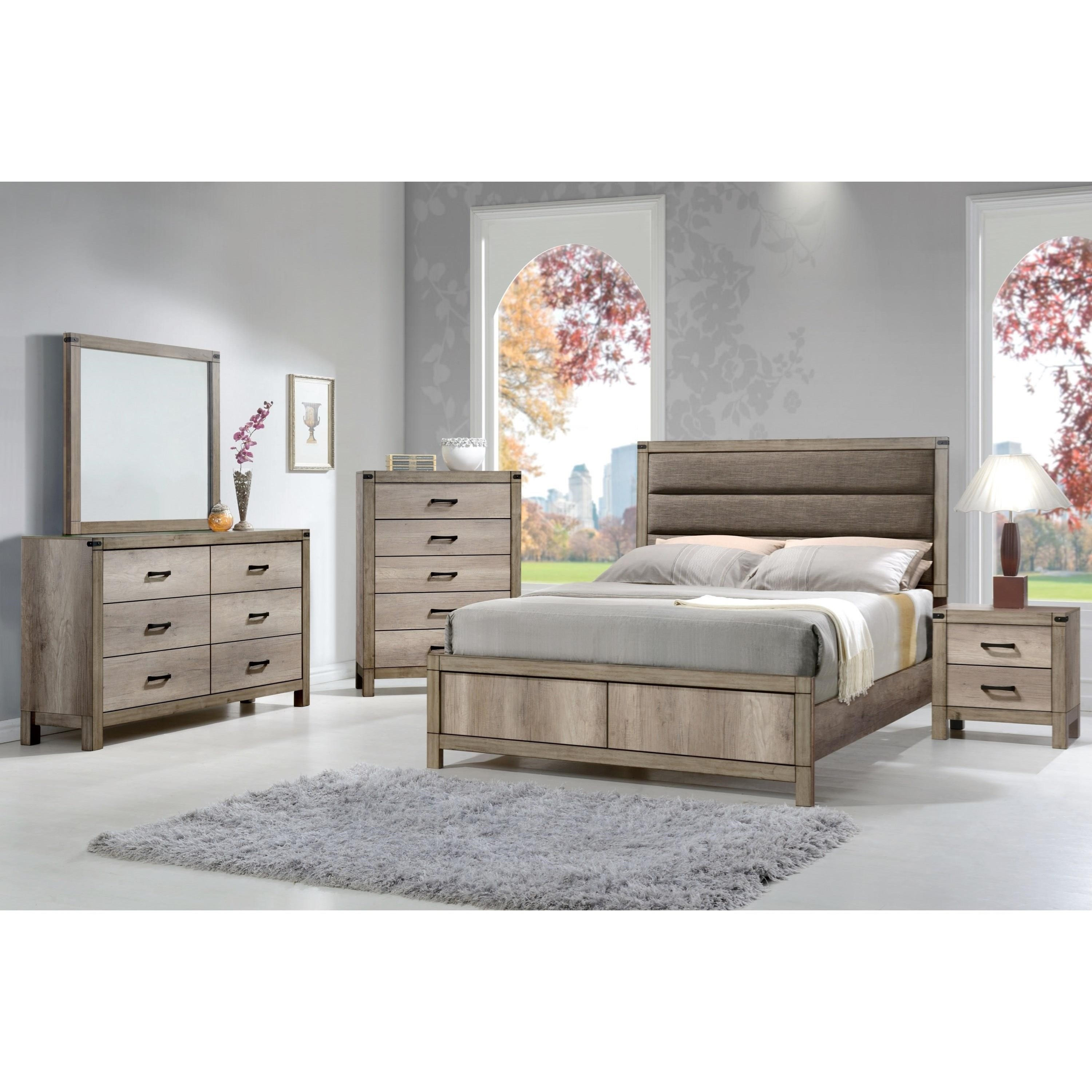Levitz Furniture Stores: Crown Mark Matteo B3200-2-T Contemporary Tall Two Drawer