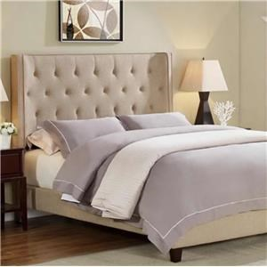 Crown Mark Mayes Queen Button Tufted Bed