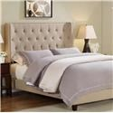 Crown Mark Mayes Queen Button Tufted Bed - Item Number: 5269-Q-HBFB + -RAIL