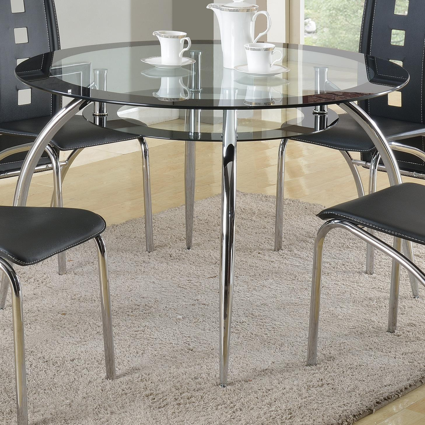 Crown Mark Mila Round Dining Table - Item Number: 1270T-45-LEG+TOP