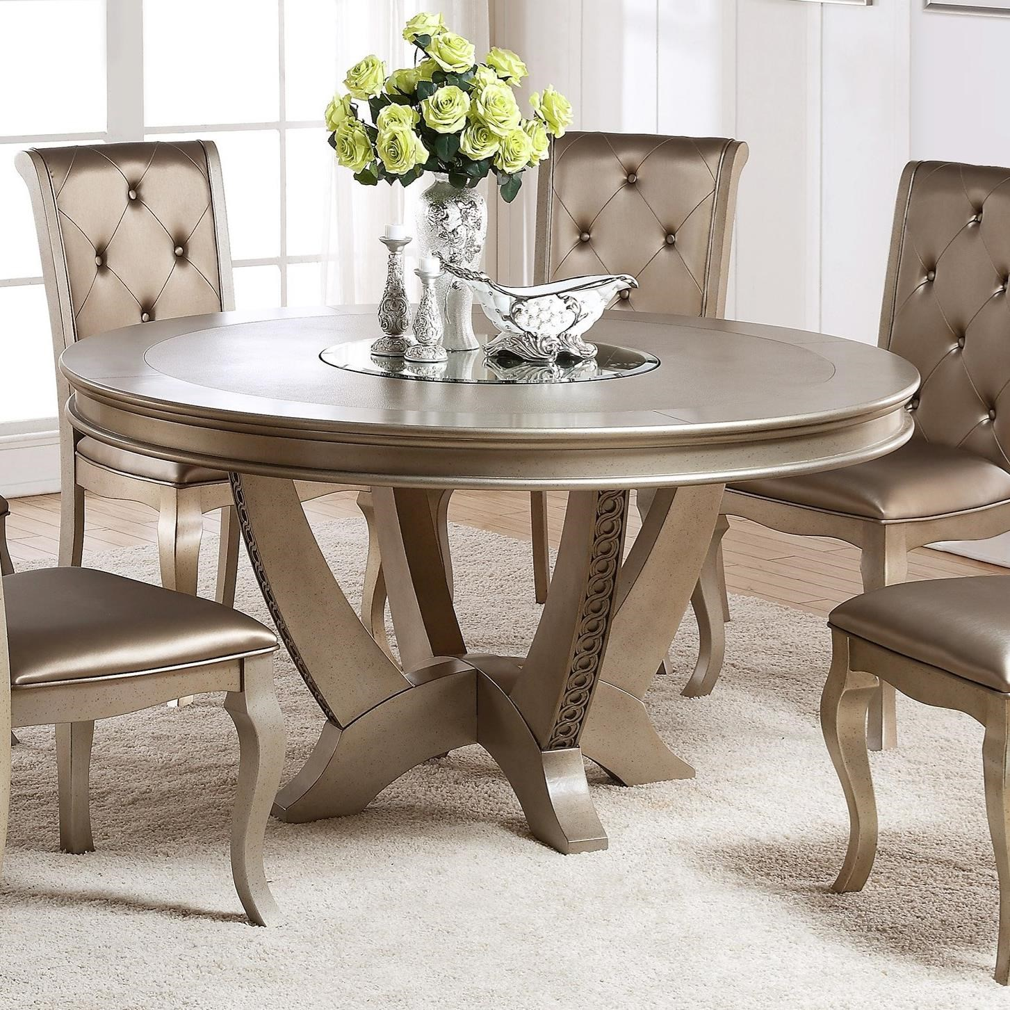 Crown Mark Mina Round Table - Item Number: 2166T-59-TOP+BASE