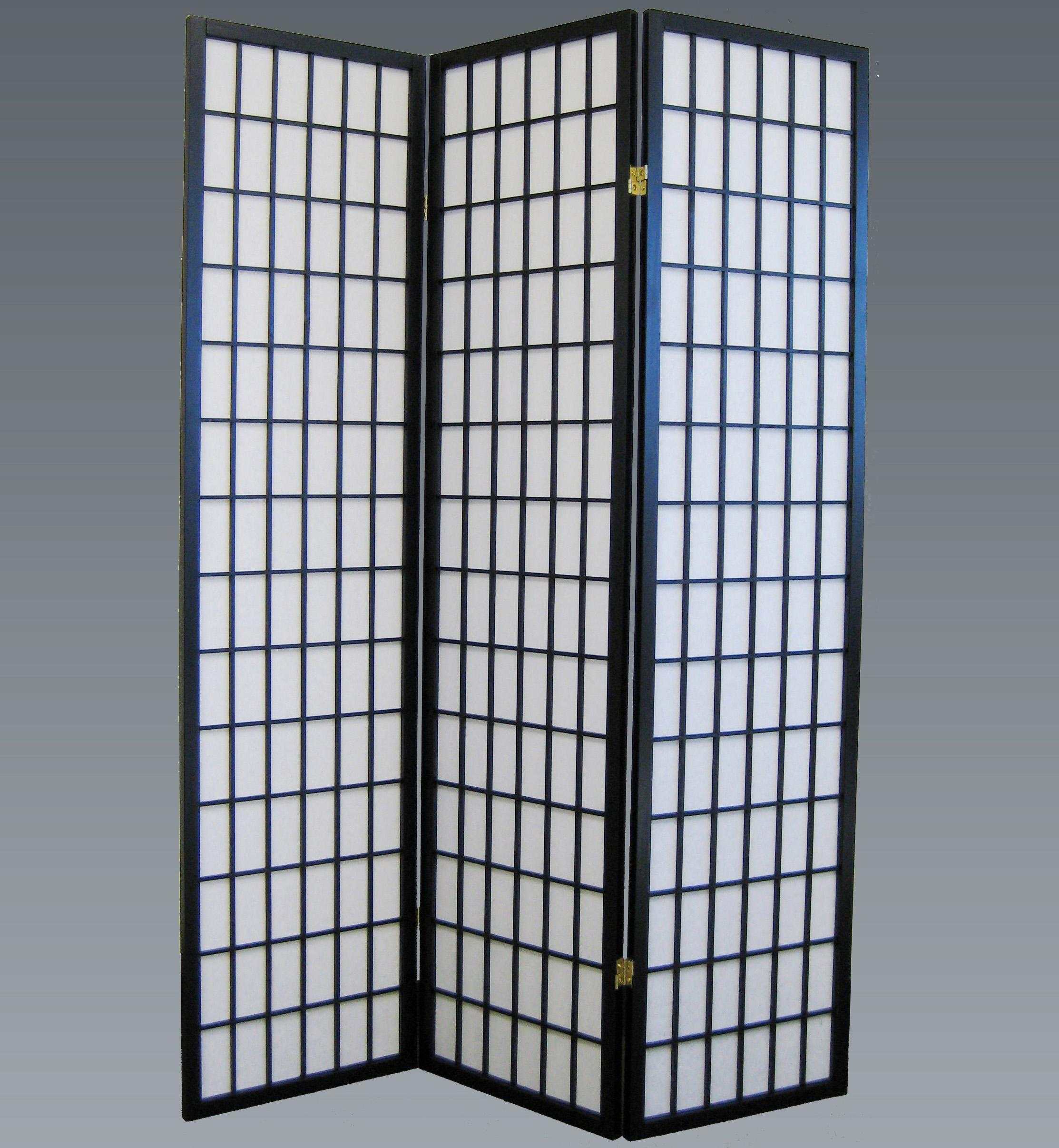 Crown Mark Miscellaneous 3 Panel Wood Screen                 - Item Number: 2003BK