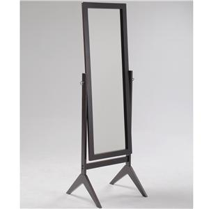 Crown Mark Miscellaneous Espresso Cheval Mirror