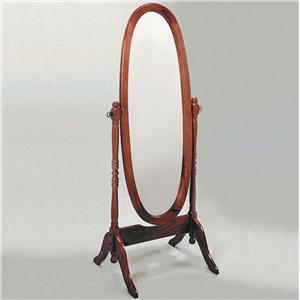 Crown Mark Miscellaneous Cherry Cheval Mirror