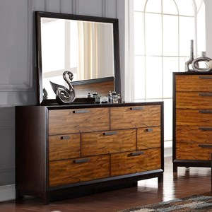 Crown Mark Mumford Dresser and Mirror Set