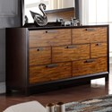 Crown Mark Mumford Contemporary Dresser with Two-Toned Finish