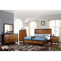 Crown Mark Mumford Contemporary Two-Tone Nightstand and Pullout Tray