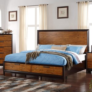 Crown Mark Mumford King Headboard and Footboard Bed