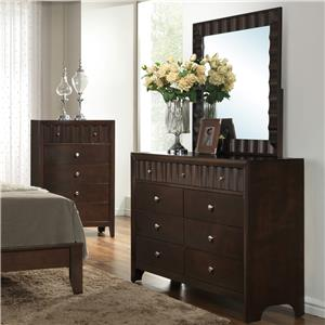 Crown Mark Nadine Dresser and Mirror Set