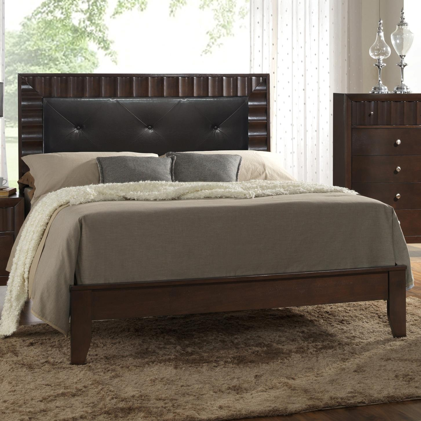 Crown Mark Nadine King Bed - Item Number: B4900-K-HBFB+KQ-RAIL