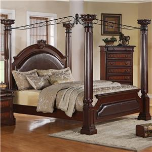 Crown Mark Neo Renaissance King Poster Bed
