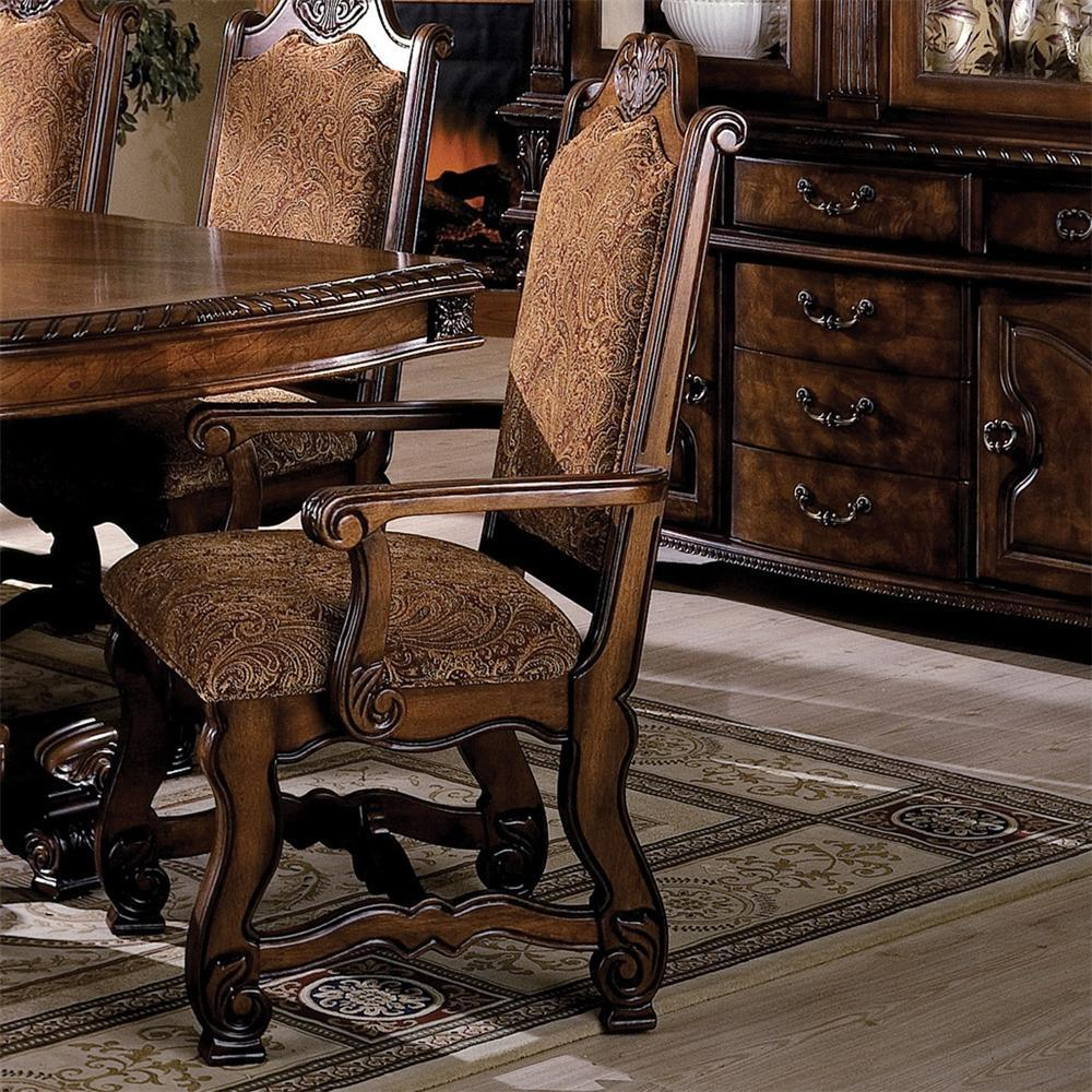 Neo Renaissance 9 Piece Traditional Dining: Crown Mark Neo Renaissance Double Pedestal Dining Table