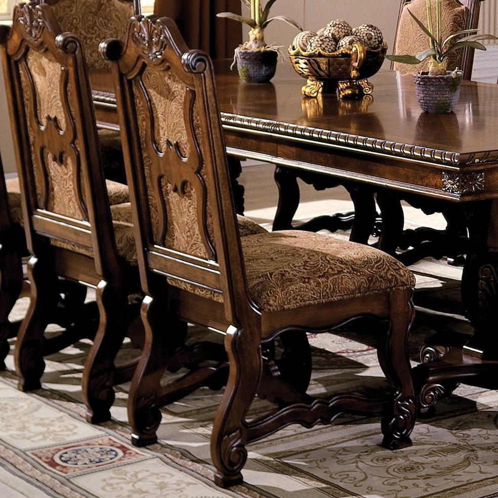 Crown Mark Neo Renaissance Double Pedestal Dining Table