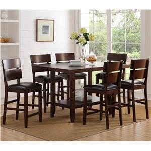 Crown Mark Newcomb Table and Chair Set