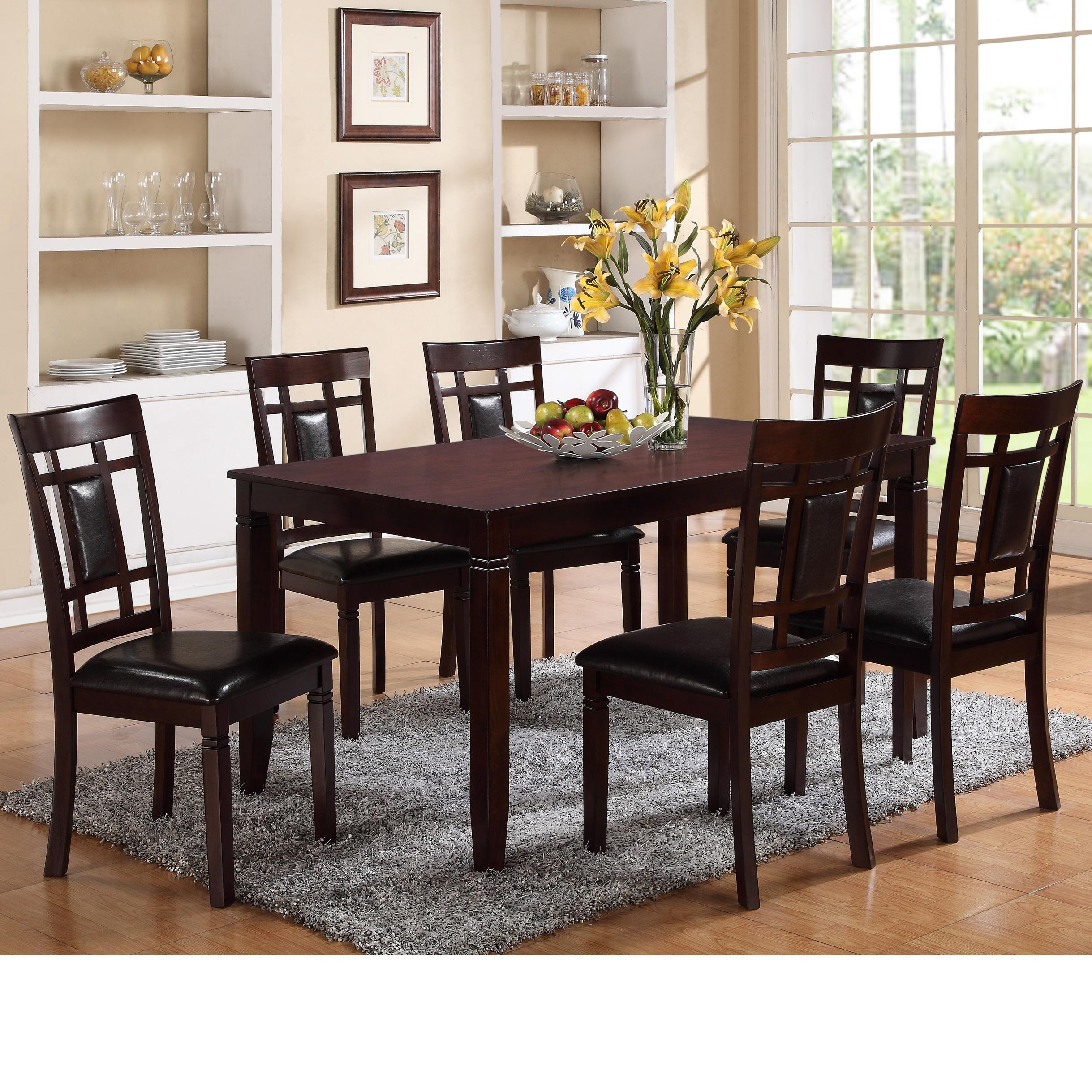 Crown Mark Paige 7 Piece Table and Chair Set - Item Number 2325SET & Crown Mark Paige 7 Piece Table and Chair Set with Block Feets ...
