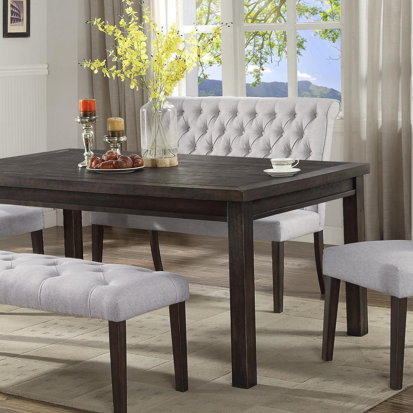 Dining Room Tables With Benches: Crown Mark Palmer Dining 2022S-2 Upholstered High Back