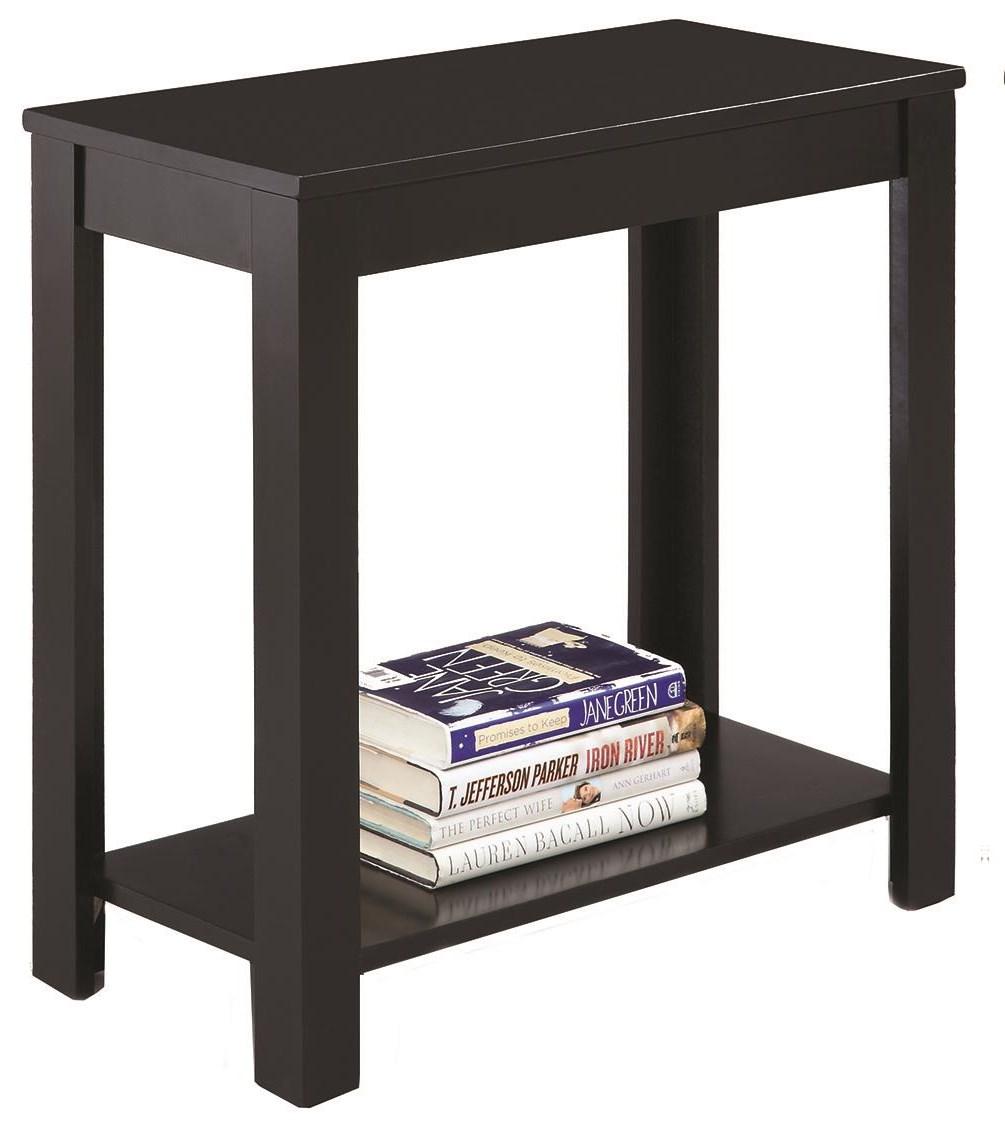 Chairside Table W/Inlay Shelf