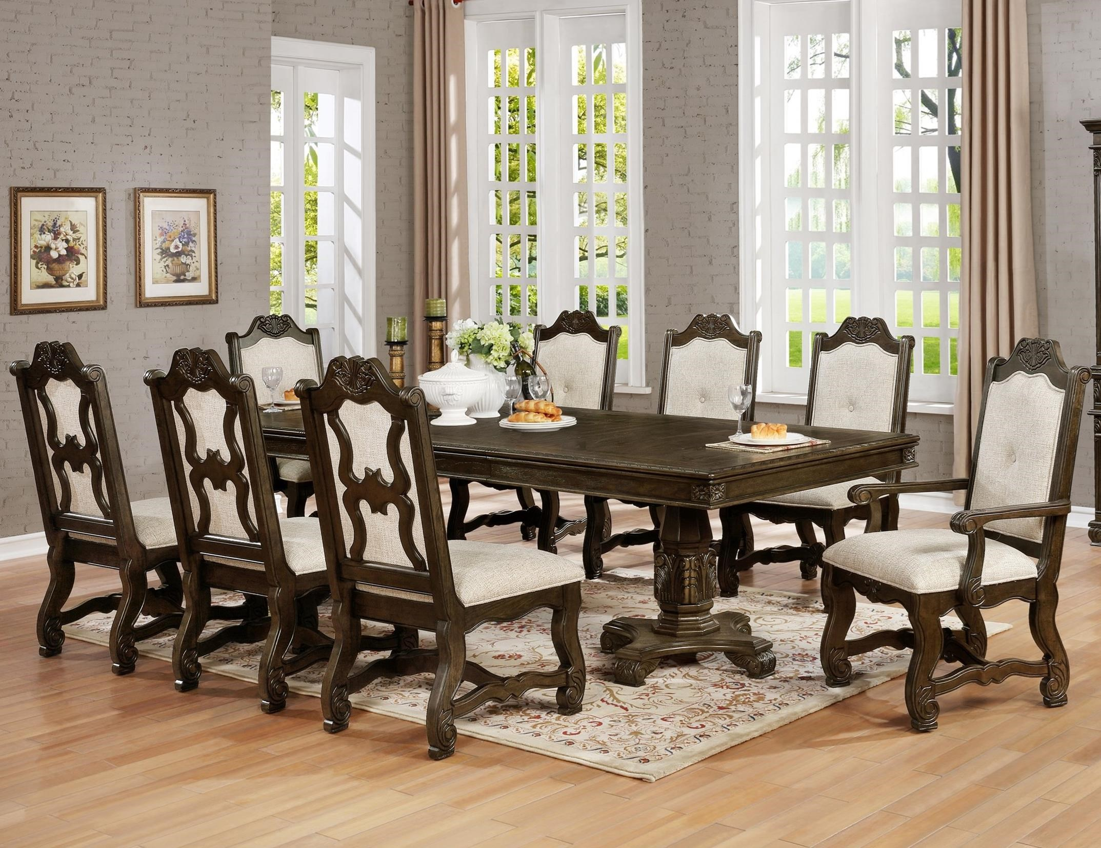 Crown Mark Pierre 9 Pc Dining Set   Item Number: 2410T 44108 TOP
