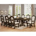 Crown Mark Pierre 9 Pc Dining Set - Item Number: 2410T-44108-TOP+2410T-44108-LEG+2XA