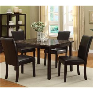 Crown Mark Pompei 5 Piece Table & Chair Set