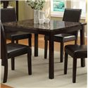 Crown Mark Pompei 5 Piece Table & Chair Set - Table Shown