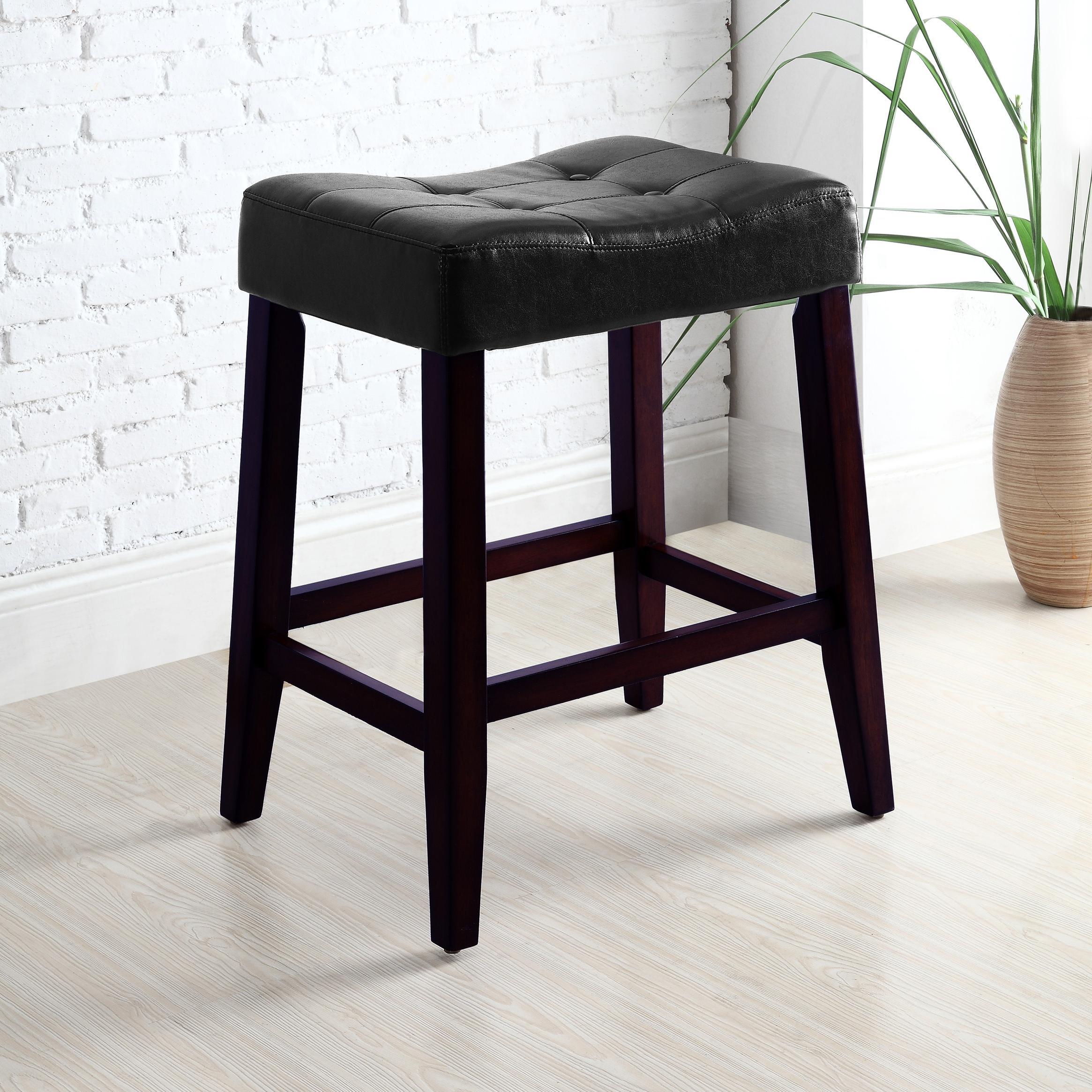 "Crown Mark Kent & Portman Saddle Chairs 24"" Kent Saddle Chair - Item Number: 2787C-24-BK"