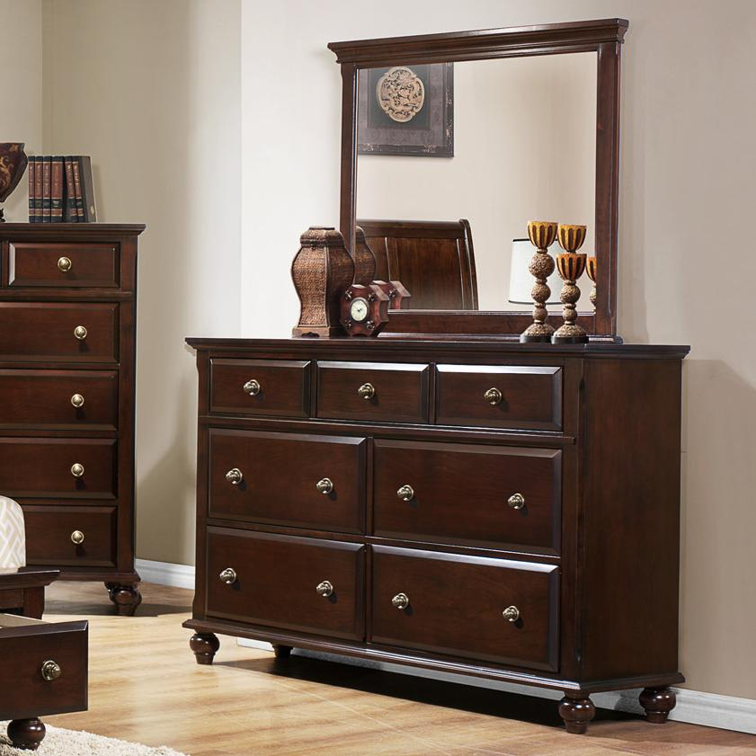 Crown Mark Portsmouth B6075 Dresser and Mirror Set - Item Number: B6075-1+11